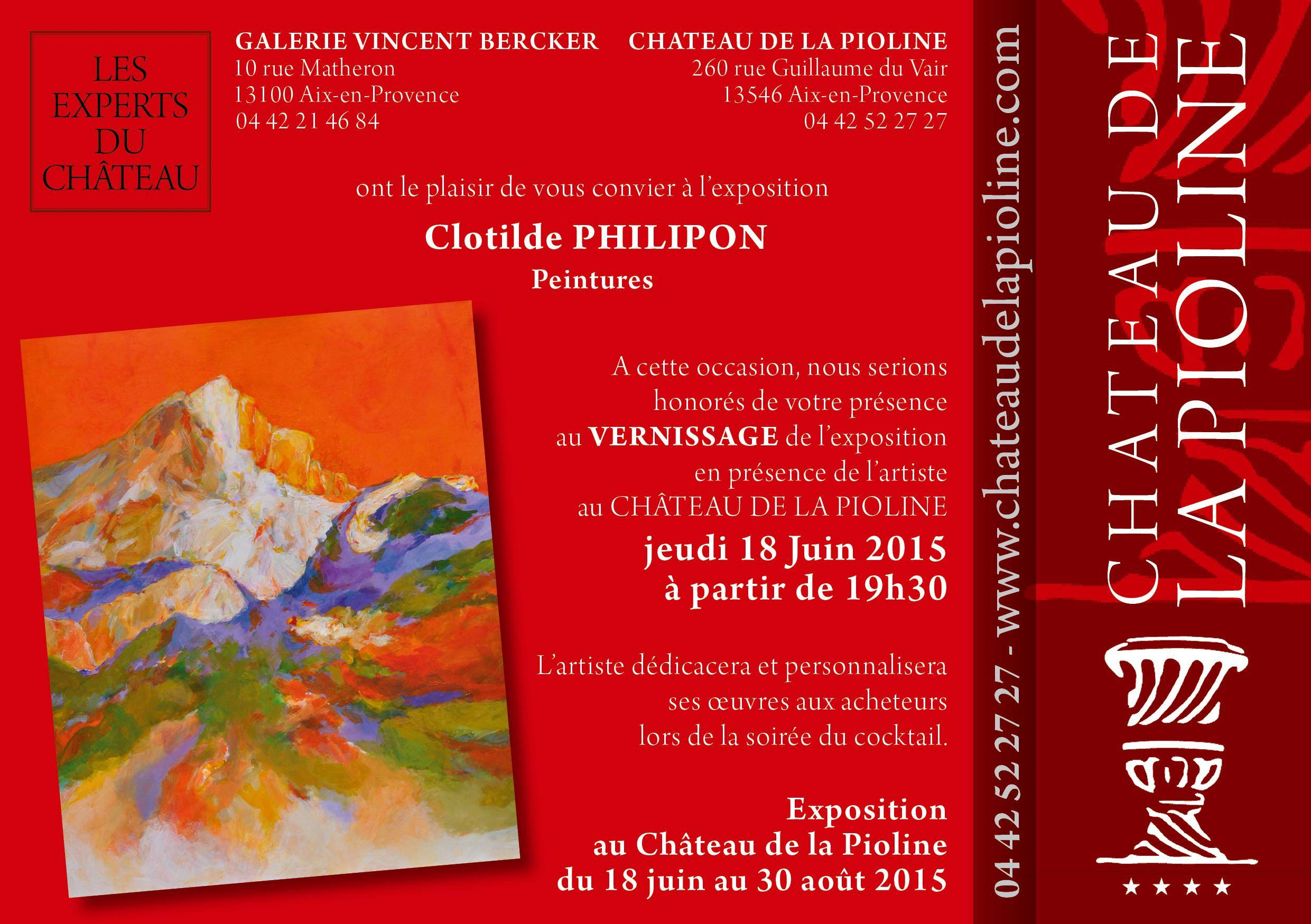 Flyer Expo C.Philipon Pioline Juin 2015